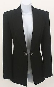 Ellen Tracy Ellen Tracy Black Double Rhinestone Closure Blazer B357