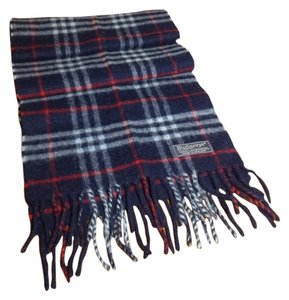 Burberry Authentic Burberry Scarf Plaid Red/blue