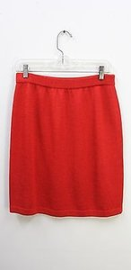 St. John St Collection Knit True Skirt Red