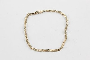 7.5 14kt. Yellow Gold Plated Chain Bracelet Bj13