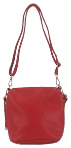 Other Red Pebbled Embossed Tree Pattern Side Pockets B20 Cross Body Bag