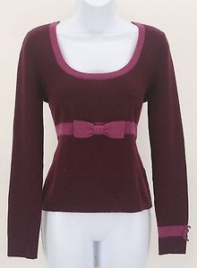 Nanette Lepore Neckline And Bow 100 Cashmere B04 Sweater