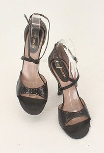 Enzo Angiolini Strappy High Heel Sandals B200 Brown Rose Pumps