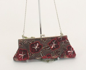Sb Sarah B Studio Red Green Multi-Color Clutch