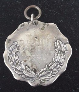 Sterling Pendant Engraved Kc H Mo 1928 Spelling Contest Bsm