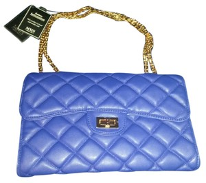 MMS Design Studio Quilted Faux Leather Striped Durable One Shoulder Cross Body Bag