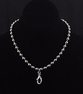 JK by Thirty-One Jewel Kade 16 Silvertone Ball Chain Necklace Bj13