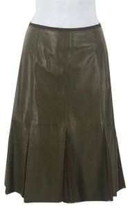 Worth 17d30 Leather Skirt Dragon Moss (Olive)