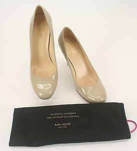 Kate Spade 7b Womens Tan Patent Leather Giraffe Detail Heels B291 Pumps