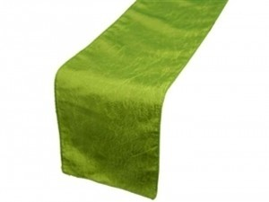Sage Green Table Runners Taffeta Crinkle Tablecloth
