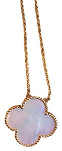 Van Cleef & Arpels Van Cleef and Arpel Vintage Alhambra 100 year anniversary limited edition necklace. mother of pearl with yellow gold