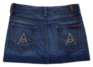 7 For All Mankind Mini Skirt Medium wash