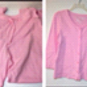 Victoria's Secret 2 Piece Pajama Set PANTS + L/S BUTTON UP