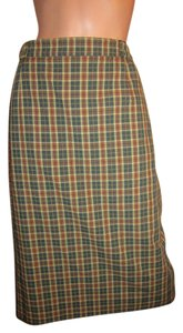 Burberry London Skirt Green Beige Rust