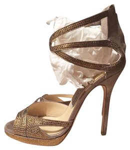 Jimmy Choo Platform Gold Sandals