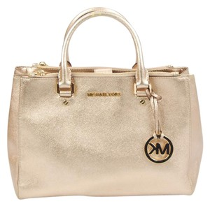 Michael Kors Mk Sutton Satchel in Gold