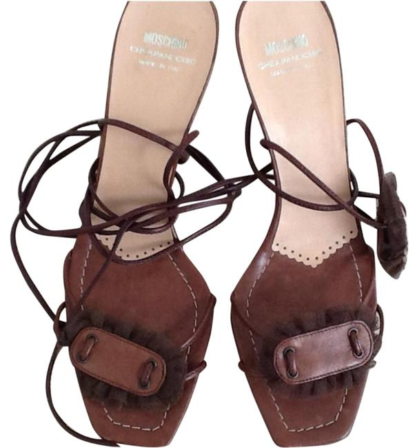 Moschino Brown Sandals Size US 8.5 Narrow (Aa, N) Moschino Brown Sandals Size US 8.5 Narrow (Aa, N) Image 1
