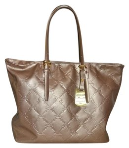 Longchamp Cuir Leather Made In Paris Tote in Platinum/Gold