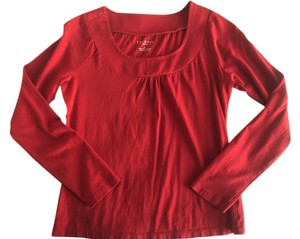 Talbots Basic Work Long Sleeve Top Red