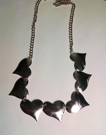 Other New Silver Tone Hearts Bib Necklace Adjustable Length J521