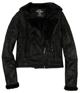 Ecko Motorcycle Shearling Suede Motorcycle Jacket