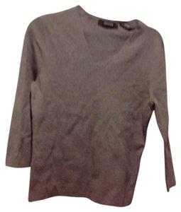 Express Slate Blue Slight V Neck Fits Great Sweater