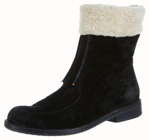 Henry Cuir Shearling Suede Black Boots