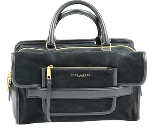 Marc Jacobs Suede Tote in Black