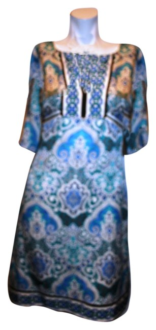 Preload https://img-static.tradesy.com/item/15795388/phoebe-couture-blue-white-women-floral-empire-waist-sleeve-above-knee-short-casual-dress-size-4-s-0-1-650-650.jpg