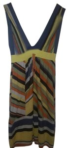 M Missoni short dress Yellow Brown orange cream stripe New With Tags Knit on Tradesy