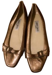 Jimmy Choo Gold Metallic Flats