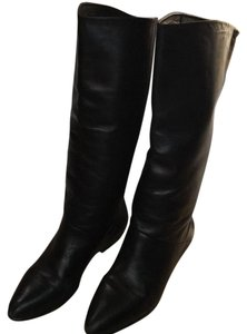 Black Leather 3 1/4 Boots Black Leather Boots