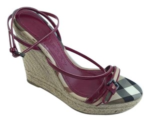 Burberry Wedge Espadrille Magenta Wedges