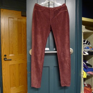 Memoi Jeggings Spring Stylish Corduroy Skinny Pants Red