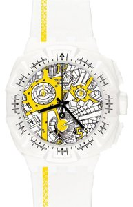 Swatch Swatch Male Dress Watch SUIW410 White Analog