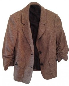 The Limited Suit Power Business Brown Tweed Blazer