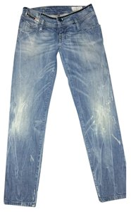 Diesel Studded Denim European Boyfriend Cut Jeans-Medium Wash