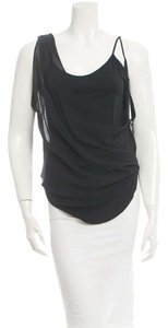 Helmut Lang Silk Drap Top Black