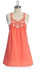Anthropologie short dress ORANGE Summer Layered on Tradesy