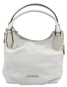 Michael Kors Mk Leather Tote in White
