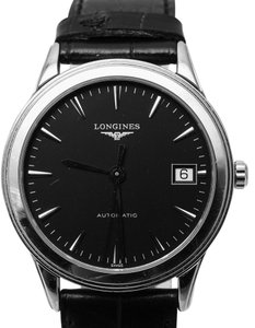 Longines LONGINES Flagship Automatic Black Dial Stainless Steel Watch