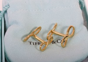 Tiffany & Co. Tiffany & Co. Custom Gold Plated 925 Sterling Silver Cuff-links