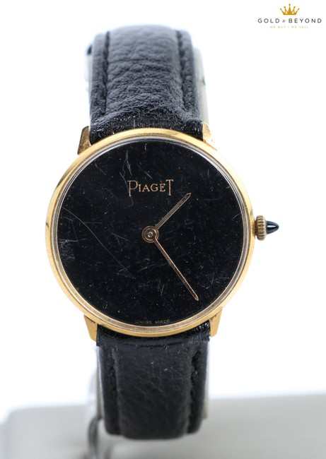 Piaget Black/ Gold Plated Vintage 18kt Electro Watch Piaget Black/ Gold Plated Vintage 18kt Electro Watch Image 1