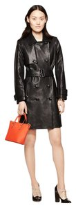 Kate Spade Leather Madison Loden Trench Coat