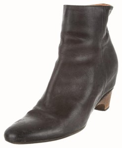 Maison Margiela Leather Ankle Bootie Black Boots