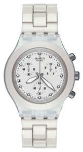 Swatch Swatch Unisex Dress Watch SVCK4045AG White Chronograph