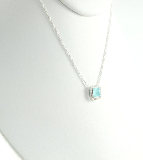 Ippolita IPPOLITA STERLING SILVER TURQUOISE DOUBLET & DIAMOND STELLA PENDANT NECKLACE