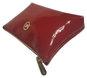 Michael Kors Fulton Cosmetic Travel Case Patent Leather Red 35FGFTM4A
