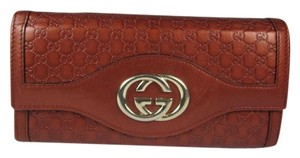 Gucci Guccissma - Brown, Leather, Long Folding Wallet