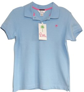Lilly Pulitzer Resort Shirt Polo T Shirt Blue
